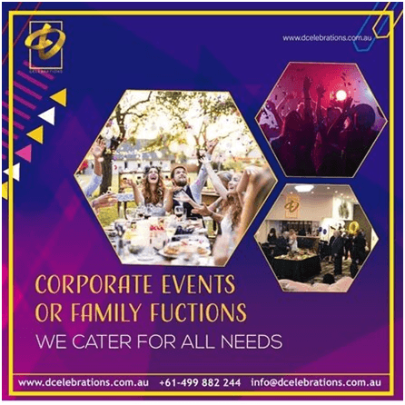 Social media case study for Corporate events and family function